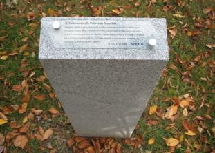 Reservoir Woods, LEED interpretive marker, Waltham MA