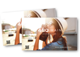 480MAIN, brochure for mixed use residential, everett