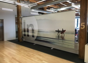LogMeIn, graphic solutions for architectural problems, immersive wayfinding, boston