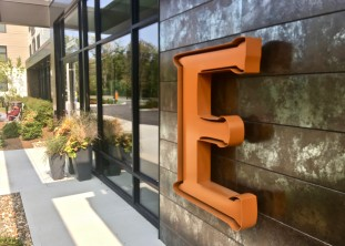 EMERY flats - site branding, signs, graphics