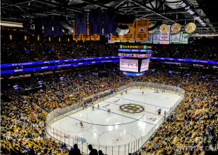 Boston GARDEN scoreboard sign - rebranding the LEGEND