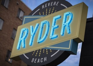 RYDER - modern retro on the sand at Revere Beach, north of Boston